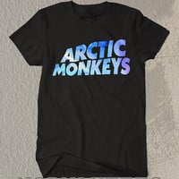 New Acrtic Monkeys Shirt Blue Letter Symbol Black and White For Men Or Women Shirt Unisex Size TS0 41