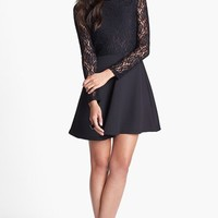Glamorous Lace Bodice Open Back Skater Dress | Nordstrom