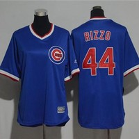 Women's Chicago Cubs #44 Anthony Rizzo Cooperstown Cool Base Player Jersey
