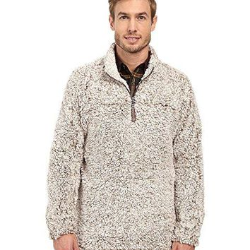 True Grit Frosty Tipped 1/4 Zip Pullover - Brown