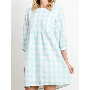 Check Point Dress | Mint