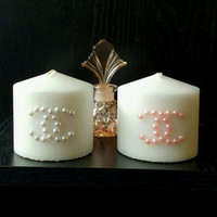 Chanel Designer Inspired Candle (with perfume bottle option)