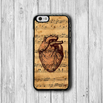 Vintages Music Art Body Heart Love Human Anatomy iPhone 6 Cover, iPhone 6S, iPhone 5 / 5S iPhone 5C Cases iPhone 4/4S Accessories Boss Gift