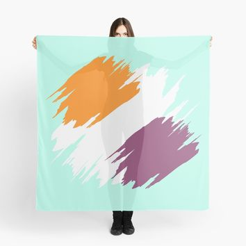'Green Ocean Spray' Scarf by Space & Lines