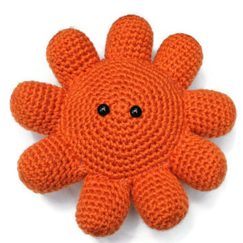 PATTERN ONLY Crocheted stuffed Alien monster flower pillow pattern, Crochet PDF pattern file, Instant download crochet pattern