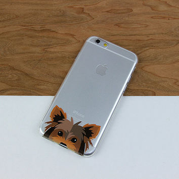 Yorkshire Terrier Cute Yorkie Galaxy S6 Case, Clear Phone Case, Flexible Phone Cover, iPhone 6 Case, Slim Case