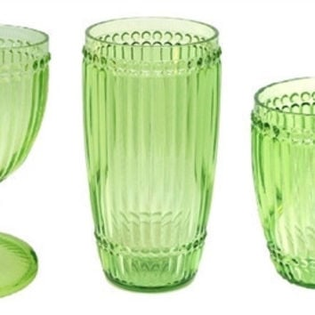 Le Cadeaux Milano Outdoor Drinkware - Light Green - Set of 6
