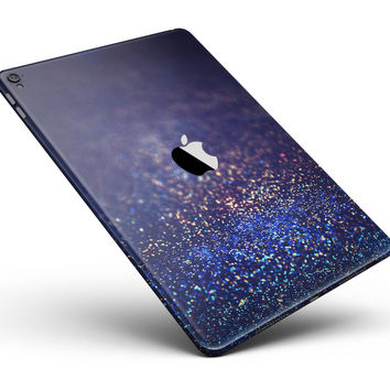 "Deep Blue with Gold Shimmering Orbs of Light Full Body Skin for the iPad Pro (12.9"" or 9.7"" available)"