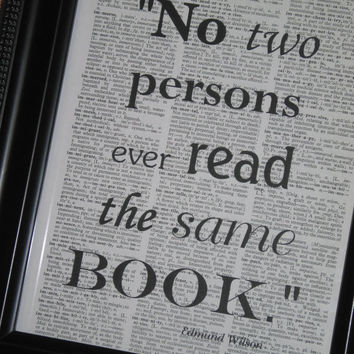 Quote Saying Dictionary Book Art Print Upcycled Vintage Wall Art 8 x 10  Book Print