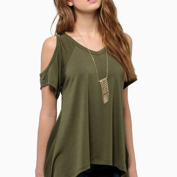 Dmart7dealBare cold shoulder tops Shirts Women V Neck Cotton T Shirts Plus Size  Fishtail Hem