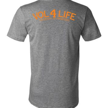 Official NCAA University of Tennessee Volunteers, Knoxville Vols UT UTK Women's Vol 4 Life Orange Unisex V-Neck T-Shirt - 35TN-5