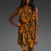 EDUN Camel Print Ruffle Front Dress in Camel at Revolve Clothing - Free Shipping!