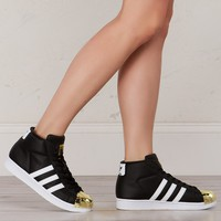 Adidas Promodel Metal Toe Sneakers in Black White Gold