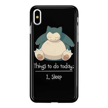 Things To Do Today Sleep Pokemon Snorlax iPhone X Case