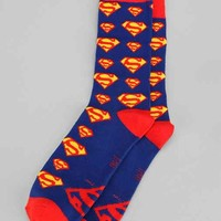 Superman Sock- Blue One