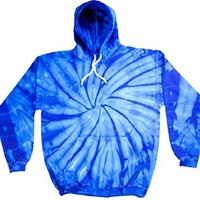 Buy Cool Shirts Mens Tie Dye Pullover Spider Royal Hoodie SM