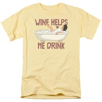 Bobs Burgers - Wine Helps Short Sleeve Adult 18/1