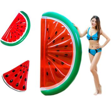 2 style Watermelon Infaltable Pool Float Swimming Ring for Adults Women Giant Swimming Float Air Mattress Buoy Beach Toys Fun