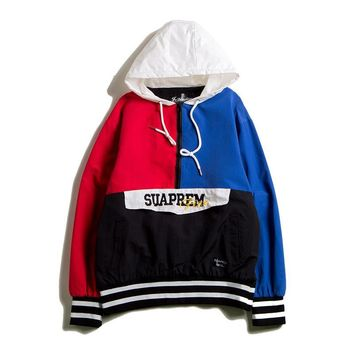 Patchwork Tops Hip-hop Couple Jacket [1016605114404]