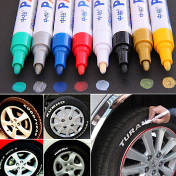 UNIVERSAL TYRE PERMANENT MARKER PEN PAINT WATERPROOF WHEEL RUBBER TIRE TREAD