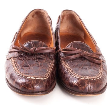 Brown Croc Loafers