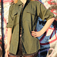 Vintage Olive Drab Army Navy Fatigue Jacket Assorted Sizes - Free Shipping