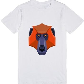 Baboon Head Flat Icon | T-Shirt | SKREENED