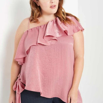 Marion One Shoulder Top Plus Size