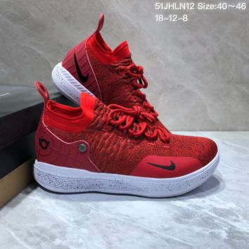 HCXX N677 Nike Zoom KD11 Mid XI Men Actual Baketball Shoes Red