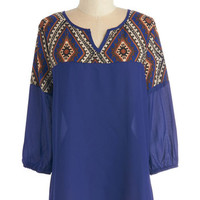 ModCloth Boho Mid-length 3 Life in the Fascinated Lane Top