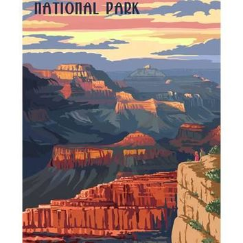 Grand Canyon National Park - Mather Point Art Print by Lantern Press at Art.com