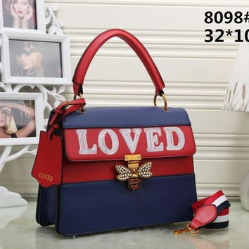 hcxx High quality replica GG brand women 'loved  with butterfly clasp tote handbag