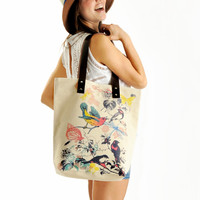 Birdies Summer Shoulder Bag Tote Bag