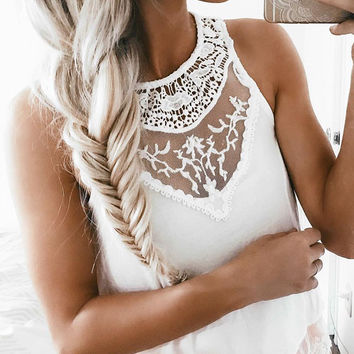 Love in Lace Top - White