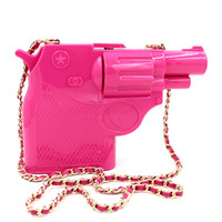 Pink Plastic Toy Gun Purse