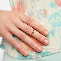 Delicate V Midi Ring- Gold 4
