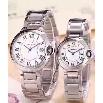 Cartier Ladies Men Fashion Quartz Watches Wrist Watch Sliver G-YF-GZYFBY