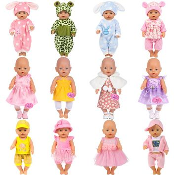 15Colors Girl Clothes Zapf Baby Born Doll Clothes Doll Accessories American Doll Dress Fashion Doll Children Best Gift