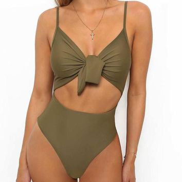 One Piece Bathing Suit 2018 New Sexy Bodysuit Women Swimming Beach Wear Bathing Suit Swimsuit Swimwear Femme Biquinis  Suits KO_9_1