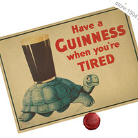 Tired To Irish Beer Poster 16X12