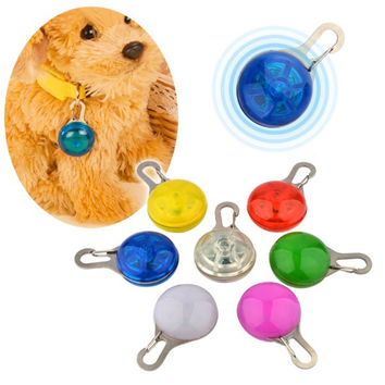 New Dog glowing necklace LED Safety Cat Night Light Flashing Colour Buckle Collar Pet Luminous Bright Glowing in Dark