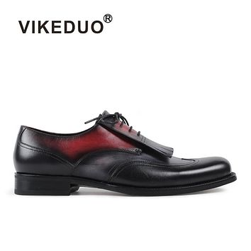 Handmade Origial Design Luxury Fashion Brogue Formal Dress Office Party Casual Genuine Leather Mens Derby Shoes