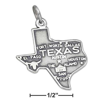 STERLING SILVER TEXAS STATE CHARM