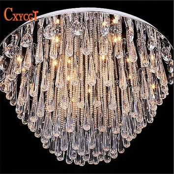 Art Deco Modern Luster Crystal Chandelier Light Fixture