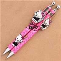 pink Hello Kitty cat leopard pattern mechanical pencil - Pens-Pencils - Stationery