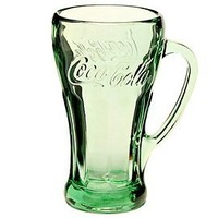 Green Coca-Cola Glass - 14.5 oz Genuine Mug by Libbey