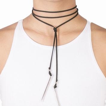 Spiked Tie up Choker