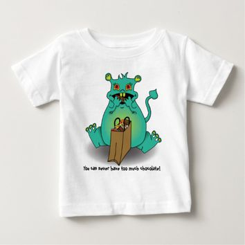 Chocolate candy monster baby T-Shirt