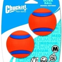 ChuckIt! Medium Ultra Balls 2.5-Inch, 2-Pack