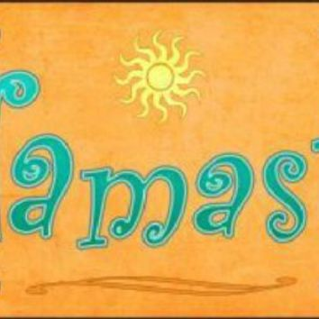 Namaste Sign Tag  Plate